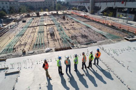podcast for architects construction workers looking over jobsite