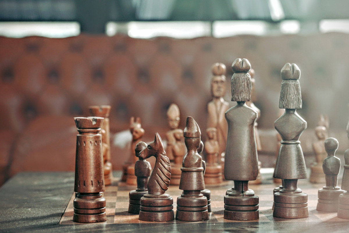 chess match representing project management at architecture firms